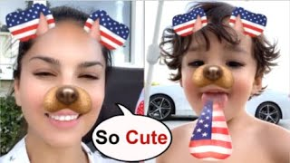 Sunny Leone CUTE Video Wit Son Noah Making FUNNY Faces