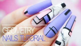 How To Do Easy Geometric Gel Nail Design - Step By Step Tutorial