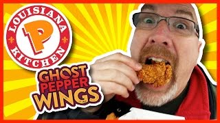 Ghost Pepper Wings from Popeye's Review also Onion Rings and Biscuit - Video Youtube