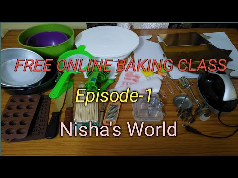 Free Online Baking Class||Episode 1|| Tools For Cake Making|| Nisha's World