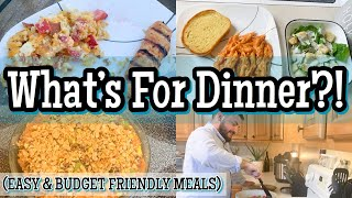 WHAT'S FOR DINNER? | EASY BUDGET FRIENDLY MEALS | FAMILY MEALS OF THE WEEK