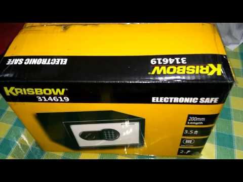 Review electrik safe box krisbow 314619#brangkas uang$$$#