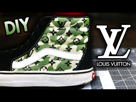 c8fe543111 HOW TO  CAMO LOUIS VUITTON YOUR SHOES ! SUPER EASY METHOD