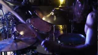 3 Inches of Blood - 4000 Torches - Drum Cam- Calgary, July 13th, 2012