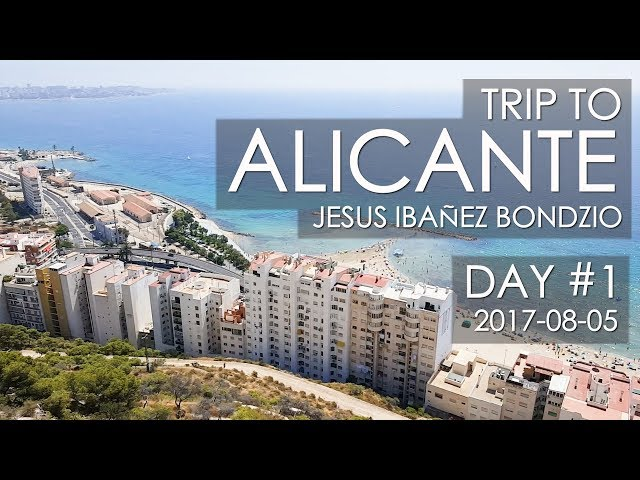 Alicante Spain, Trip Day #1 | Santa Bárbara castle & Explanada de España & Port of Alicante