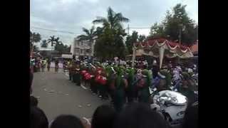 preview picture of video 'MAN 2 Payakumbuh's Marching Band performance on Payakumbuh's 42nd Anniversary on Kubu Gadang'