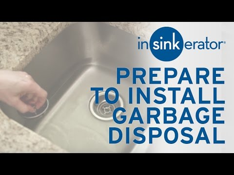 How To: Prepare for First Garbage Disposal Install