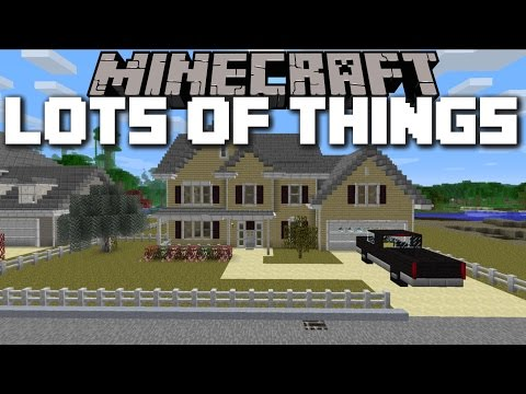 Minecraft HOUSE ITEMS MOD / LOTS OF THINGS TO DO!! Minecraft