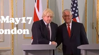 U.S. Secretary of State Rex Tillerson and Boris Johnson Talk About Immigration and Integration