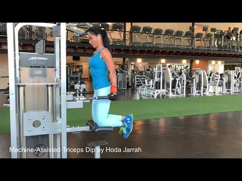 Machine-Assisted Triceps Dip by Hoda Jarrah