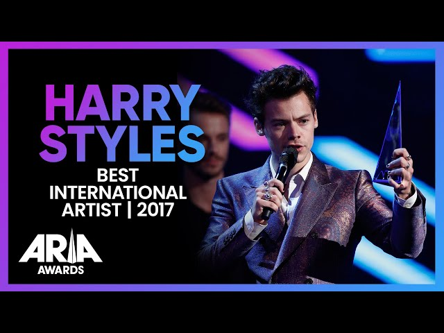 Harry Styles wins Best International Artist | 2017 ARIA Awards