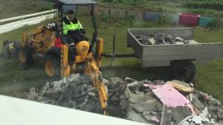 JCB mini cx backhoe