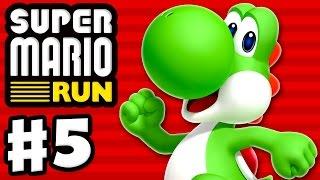 Super Mario Run - Gameplay Walkthrough Part 5 - World 5! All Pink Coins! Yoshi Gameplay! (iOS)