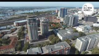 Жилой комплекс Montblanc Новосибирск. Вид с воздуха. Allnewhomes.ru