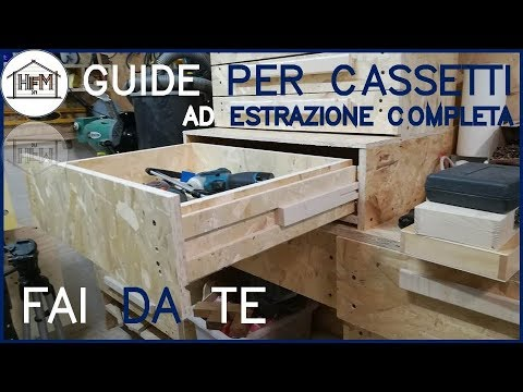 Guide per cassetti ad estrazione completa