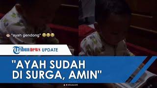 Viral Video Anak Ajak Ngobrol Foto sang Ayah yang Sudah Meninggal: Ayah Udah di Surga, Amin