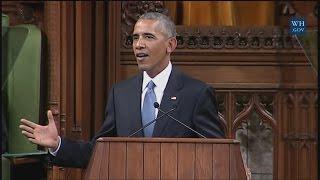 President Obama Addresses Parliament