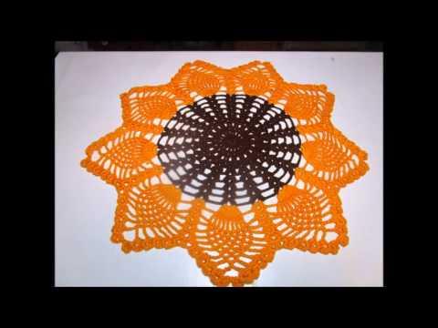 fafce3cde Crochê centrinho girassol pequeno - Free video search site - Findclip |  Agulha Italiana - Shylla Gavioli