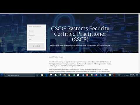 SSCP Coursera review - system security certified practitioner ...