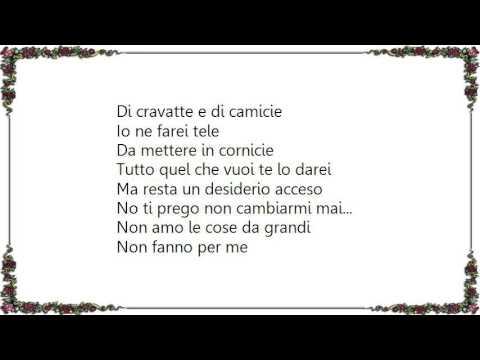 Irene Grandi - Cose da Grandi Lyrics
