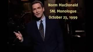 Norm Macdonald - From cast, to outcast, to host.