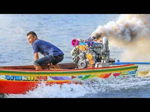 Drag Racing Longtail Thai Riverboats