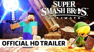 Super Smash Bros. Ultimate - Official Minecraft Reveal Trailer | Steve, Alex, Enderman, and Zombie