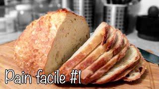 Homemade 3 MIN NO-KNEAD Bread 😊  Dutch-oven Baked [FAILPROOF Recipe] 🍞🥖