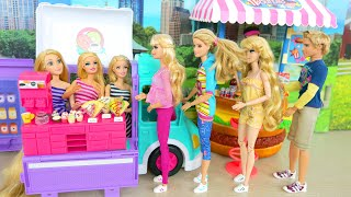 Cupcake Food Truck for Dolls / Morning at 3-story Dollhouse boneka Lmbisswagen Maison Caminhão باربي