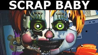 FNAF 6 - Scrap Baby - All Voices, Jumpscares & Rare Screen (Freddy Fazbear