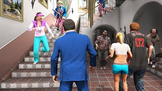 GTA 5 - Michael's Family in a ZOMBIE Outbreak & PURGE!