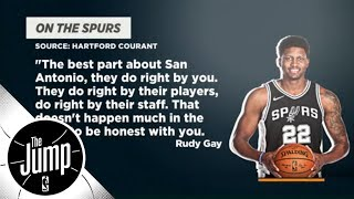 Did Rudy Gay take a shot at Kawhi Leonard? | The Jump | ESPN