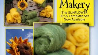 Make A Needle Felted Sunflower With Our Great Kit, Templates & Full HD Tutorial