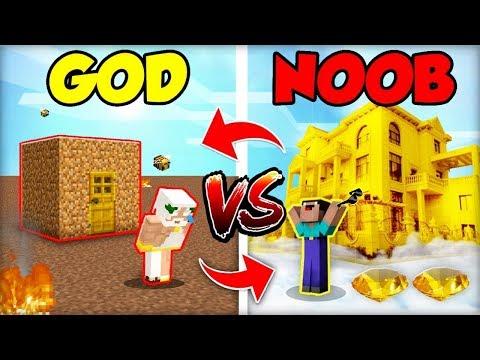NOOB STAVBA DOMU vs. GOD STAVĚNÍ DOMU (OBRÁCENĚ!)