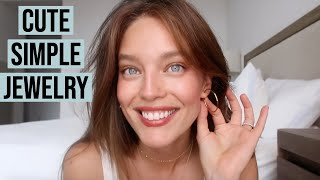 My Jewelry Collection | Where I Get My Jewelry | Cute, Simple Jewelry | Model Emily DiDonato