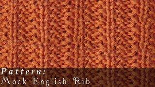 Mock English Rib  |  Knit  |  Easy