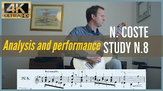Napoleon Coste, study n. 8 op. 38. Analysis and Performance.