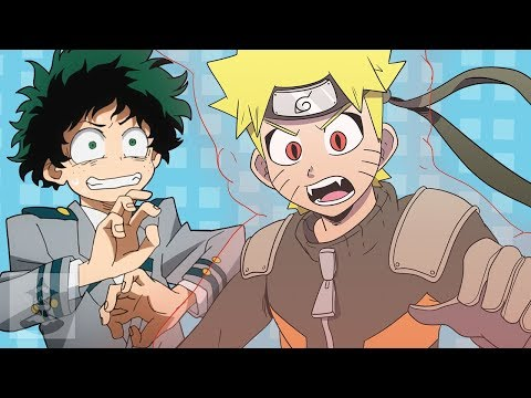 If Naruto, Goku, and Giorno were in My Hero Academia | Get In The Robot