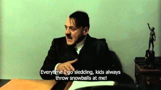 Hitler is informed that Angela Merkel had a skiing accident