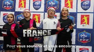 Message de soutien aux équipes de France