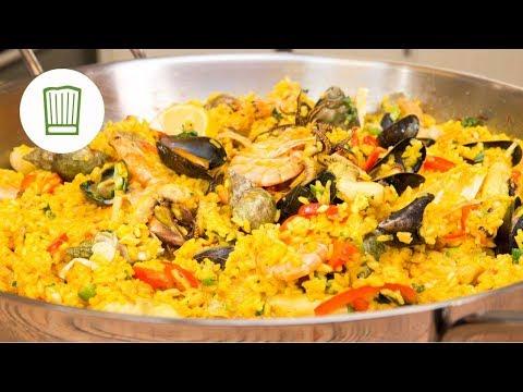 Paella – Die Spanische Reispfanne wie Fabio sie macht #chefkoch