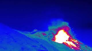 Stromboli Volcano in Infrared