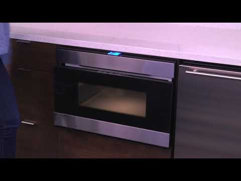VERTICAL MOTION OPENS SHARP SMD2480CS MICROWAVE DRAWER