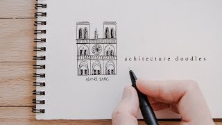 How To Draw Buildings | Architecture Doodles For Beginners