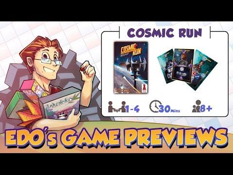 Edo's Cosmic Run Board Game Review  (KS Preview)