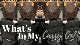 Whats In My Carry On?! NeverFull MM Louis Vuitton 2017
