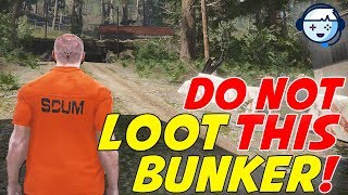 Don't Loot This Bunker!   Bunker In C1   Weapon And Equipment Location   SCUM Tips   Ep03