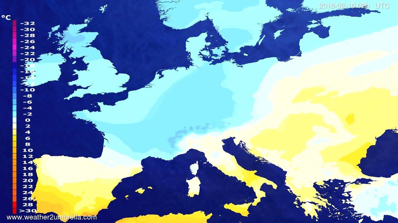 Temperature forecast Europe 2016-02-06