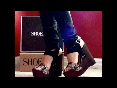 HD ShoeMint video review of NICOLE super sexy snakeskin wedge!  By MyCherryCloset!