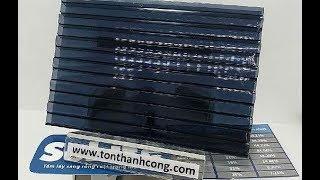 SOLITE Grey ST, Tấm Polycarbonate Rỗng Ruột Dày 5mm HCM - tonpoly.com